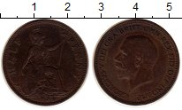 Изображение Монеты Великобритания 1/2 пенни 1934 Медь XF Георг V