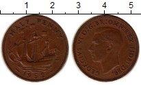 Изображение Монеты Великобритания 1/2 пенни 1952 Медь XF Георг VI