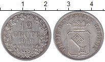 Изображение Монеты Германия Бремен 12 гротен 1859 Серебро XF