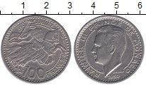 Монета Монако 100 франков 1950 Ренье III Медно-никель XF