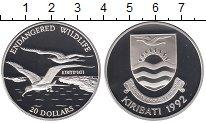 Изображение Монеты Кирибати 20 долларов 1992 Серебро Proof Сохранение животного