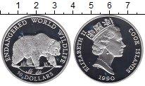 Изображение Монеты Острова Кука 50 долларов 1990 Серебро Proof Защита дикой природы