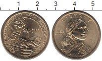 Изображение Монеты США 1 доллар 2017 Латунь UNC Коренные  американцы