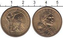 Изображение Монеты США 1 доллар 2015 Латунь UNC Индеец  мохоки  на