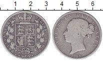 Изображение Монеты Великобритания 1/2 кроны 1887 Серебро VF