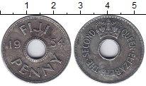 Изображение Монеты Фиджи 1 пенни 1954 Медно-никель VF