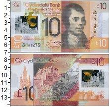 Изображение Банкноты Шотландия 10 фунтов 2017 Пластик UNC Роберт Бёрнс. На обо