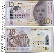 Изображение Боны Шотландия 10 фунтов 2016 Пластик UNC Сэр Вальтер Скотт.На