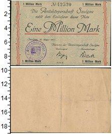Банкнота Веймарская республика 1000000 марок 1923 XF