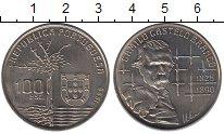 Изображение Монеты Португалия 100 эскудо 1990 Медно-никель UNC- Камилу Каштелу Бранк