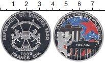Изображение Монеты Буркина Фасо 1000 франков 2014 Серебро Proof