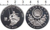 Изображение Монеты Южная Корея 5000 вон 1987 Серебро Proof