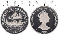Изображение Монеты Багамские острова 10 долларов 1991 Серебро Proof