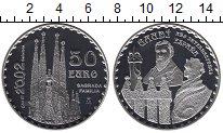 Изображение Монеты Испания 50 евро 2002 Серебро Proof-