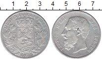 Изображение Монеты Бельгия 5 франков 1875 Серебро XF