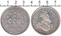 Изображение Монеты Бельгия 5 экю 1987 Серебро UNC-