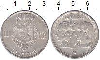 Изображение Монеты Бельгия 100 франков 1954 Серебро XF