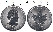 Изображение Монеты Канада 5 долларов 2017 Серебро UNC- Кленовый лист.
