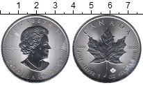 Изображение Монеты Канада 5 долларов 2017 Серебро UNC Кленовый лист.