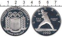 Изображение Монеты США 1 доллар 1992 Серебро Proof Олимпийские игры