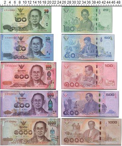 Изображение Банкноты Таиланд Таиланд 2017  UNC На смерть короля Рам