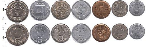 Изображение Наборы монет Пакистан Набор 1976-2005 0  XF набор из семи монет