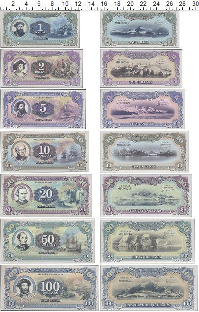 Изображение Банкноты Антарктика набор из 7 бон 2014  UNC