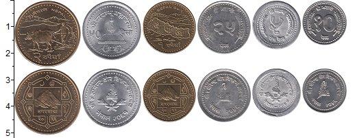 Изображение Наборы монет Непал Непал 2001-2009 2009  XF В наборе 6 монет раз
