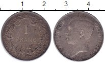 Изображение Монеты Бельгия 1 франк 1913 Серебро XF-