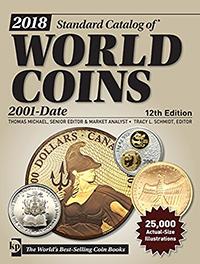 Изображение Книги о монетах Нумизматика Краузе 2018, Каталог Краузе коллекционных монет мира с 2001 года по настоящее время 0   12 издание 2018 год
