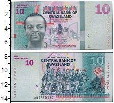 Изображение Банкноты Свазиленд 10 лилангени 2015  UNC Портрет короля Свази