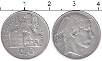 Изображение Монеты Бельгия 20 франков 1949 Серебро XF