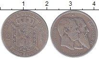 Изображение Монеты Бельгия 2 франка 1880 Серебро VF