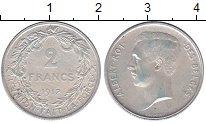 Изображение Монеты Бельгия 2 франка 1912 Серебро XF Альберт.