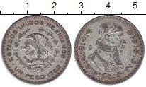 Изображение Монеты Мексика 1 песо 1962 Серебро XF-