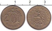 Изображение Монеты Финляндия 20 марок 1954 Латунь XF