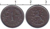 Изображение Монеты Финляндия 1 марка 1947 Железо XF