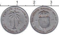 Изображение Монеты Руанда 1 франк 1958 Алюминий VF