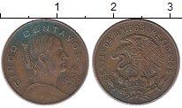 Изображение Монеты Мексика 5 сентаво 1966 Бронза XF