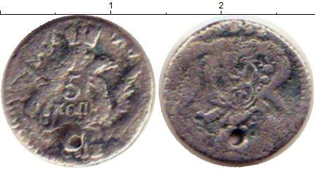Картинка Монеты 1741 – 1761 Елизавета Петровна 5 копеек Серебро 1757