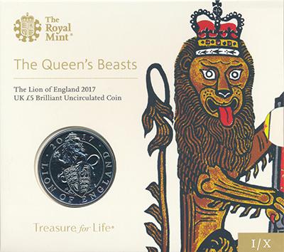 Изображение Подарочные монеты Великобритания 5 фунтов 2017 Медно-никель BUNC `Первая монета из се