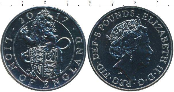 Картинка Подарочные монеты Великобритания 5 фунтов Медно-никель 2017