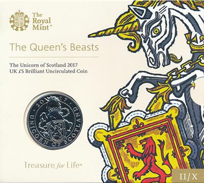 Изображение Подарочные монеты Великобритания 5 фунтов 2017 Медно-никель BUNC