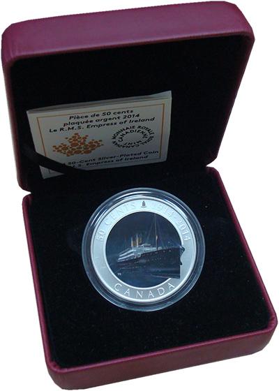 Изображение Подарочные монеты Канада 50 центов 2014 Посеребрение UNC `Монета посвящена 10