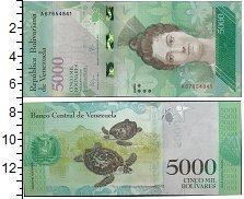 Изображение Банкноты Венесуэла 5000 боливар 2016  UNC