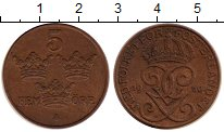 Изображение Монеты Швеция 5 эре 1950 Медь XF