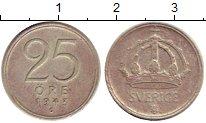 Изображение Монеты Швеция 25 эре 1943 Серебро XF