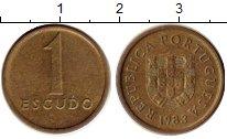 Изображение Монеты Португалия 1 эскудо 1983 Латунь XF
