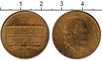 Изображение Монеты Италия 200 лир 1990 Латунь XF