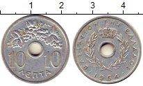 Изображение Монеты Греция 10 лепт 1954 Алюминий XF Виноградная гроздь